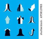 business financial trend ... | Shutterstock .eps vector #695813983