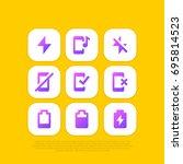 mobile phone   icon set glyph...