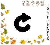web line icon. circular arrow   Shutterstock .eps vector #695842543