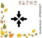 web line icon. four arrows   Shutterstock .eps vector #695842627