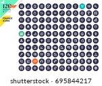 set of premium quality finance... | Shutterstock .eps vector #695844217