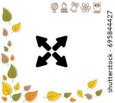 web line icon. arrows   Shutterstock .eps vector #695844427