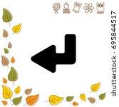 web line icon. arrow down   ...   Shutterstock .eps vector #695844517