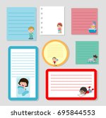 collection of various note... | Shutterstock .eps vector #695844553