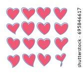 vector illustration   heart...   Shutterstock .eps vector #695846617