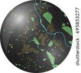 vienna vector map with dark... | Shutterstock .eps vector #695853277