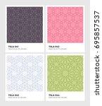 seamless vector pattern... | Shutterstock .eps vector #695857537