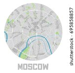minimalistic moscow city map... | Shutterstock .eps vector #695858857
