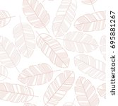 seamless pattern with pink... | Shutterstock .eps vector #695881267