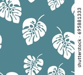 summer seamless pattern with... | Shutterstock .eps vector #695881333