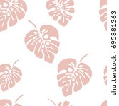 summer seamless pattern with... | Shutterstock .eps vector #695881363