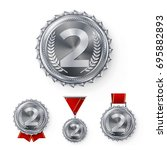 champion silver medals set...