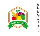organic vegetables logo design | Shutterstock .eps vector #695897767