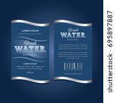 drinking water label | Shutterstock .eps vector #695897887