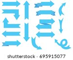 blue arrows | Shutterstock .eps vector #695915077