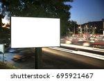 billboard mock up for outdoor... | Shutterstock . vector #695921467
