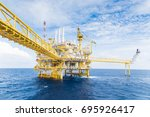 oil and gas central processing... | Shutterstock . vector #695926417