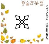web line icon. arrows   Shutterstock .eps vector #695929573