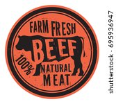 beef stamp or label  text farm... | Shutterstock .eps vector #695936947