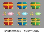 illustration of an ancient... | Shutterstock .eps vector #695940007