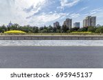 panoramic skyline and buildings ... | Shutterstock . vector #695945137