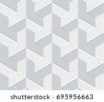 vector seamless pattern. modern ... | Shutterstock .eps vector #695956663