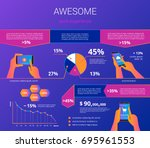 infographic visualization of... | Shutterstock .eps vector #695961553