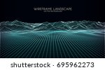 abstract digital landscape with ... | Shutterstock .eps vector #695962273