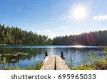 traditional finnish and... | Shutterstock . vector #695965033