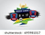 vector of soccer league with... | Shutterstock .eps vector #695981017