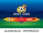 vector of soccer league with... | Shutterstock .eps vector #695981023