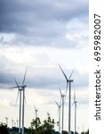 Small photo of Wind turbine, Wind generator, Wind power unit, Wind energy converter