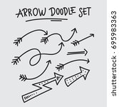 arrow doodle set vector...   Shutterstock .eps vector #695983363