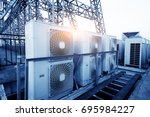 air conditioner units  hvac  on ... | Shutterstock . vector #695984227