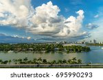 view of the miami from a cruise ...   Shutterstock . vector #695990293