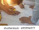 engineering team consulting and ... | Shutterstock . vector #695996977