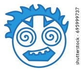 emoji with scary insane face ... | Shutterstock .eps vector #695999737