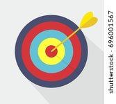 target with arrow. market goal... | Shutterstock .eps vector #696001567