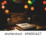 digital sound mixer  monitor... | Shutterstock . vector #696001627