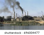 polluting factory next to the...