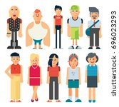 vector group of different types ... | Shutterstock .eps vector #696023293