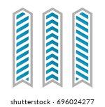 vector arrow banners set....   Shutterstock .eps vector #696024277