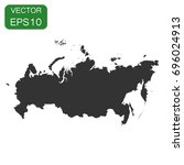 russia map icon. business... | Shutterstock .eps vector #696024913