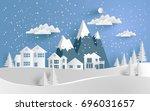vector illustration of snow.... | Shutterstock .eps vector #696031657