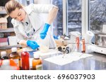 small business people at work.... | Shutterstock . vector #696037903