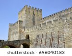 st. george's castle seen from... | Shutterstock . vector #696040183