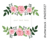 vector isolated rose buds with... | Shutterstock .eps vector #696053527