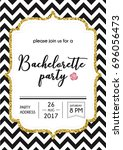 bachelorette party calligraphy... | Shutterstock .eps vector #696056473