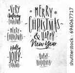 chrictmas lettering graphic a... | Shutterstock .eps vector #696067717