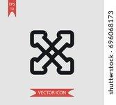 four arrows vector icon ...   Shutterstock .eps vector #696068173